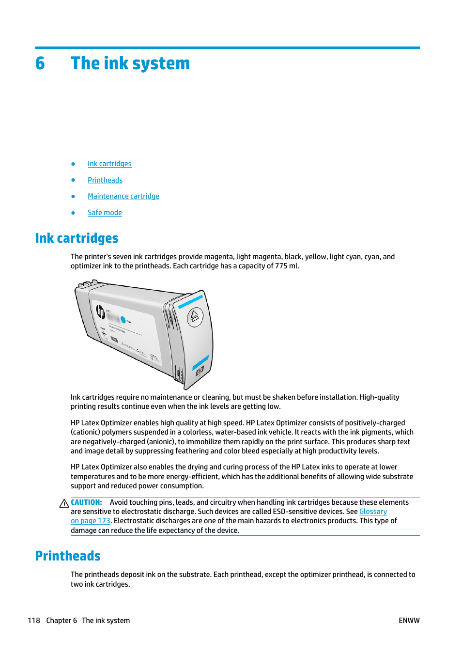The ink system ink cartridges printheads hp latex 360 printer the ink system ink cartridges printheads hp latex 360 printer user manual page 124 184 ccuart Gallery