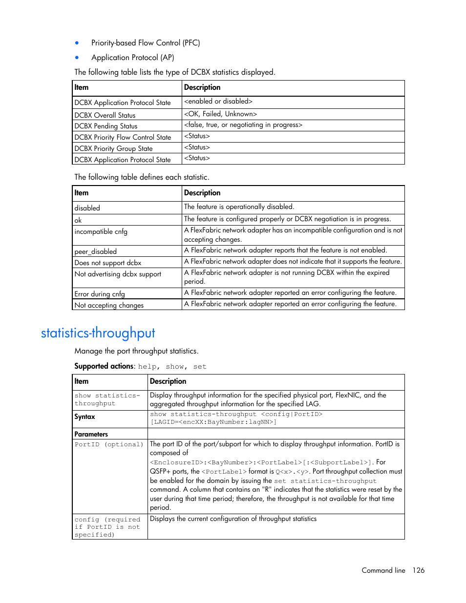 Statistics-throughput | HP Virtual Connect Flex-10 10Gb