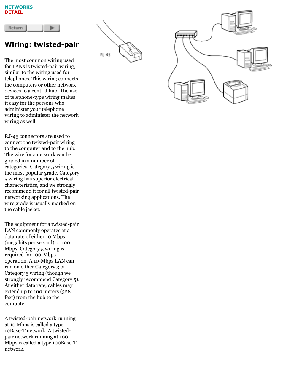 Network basics, Wiring: twisted-pair | HP Jetdirect 175x Print ...