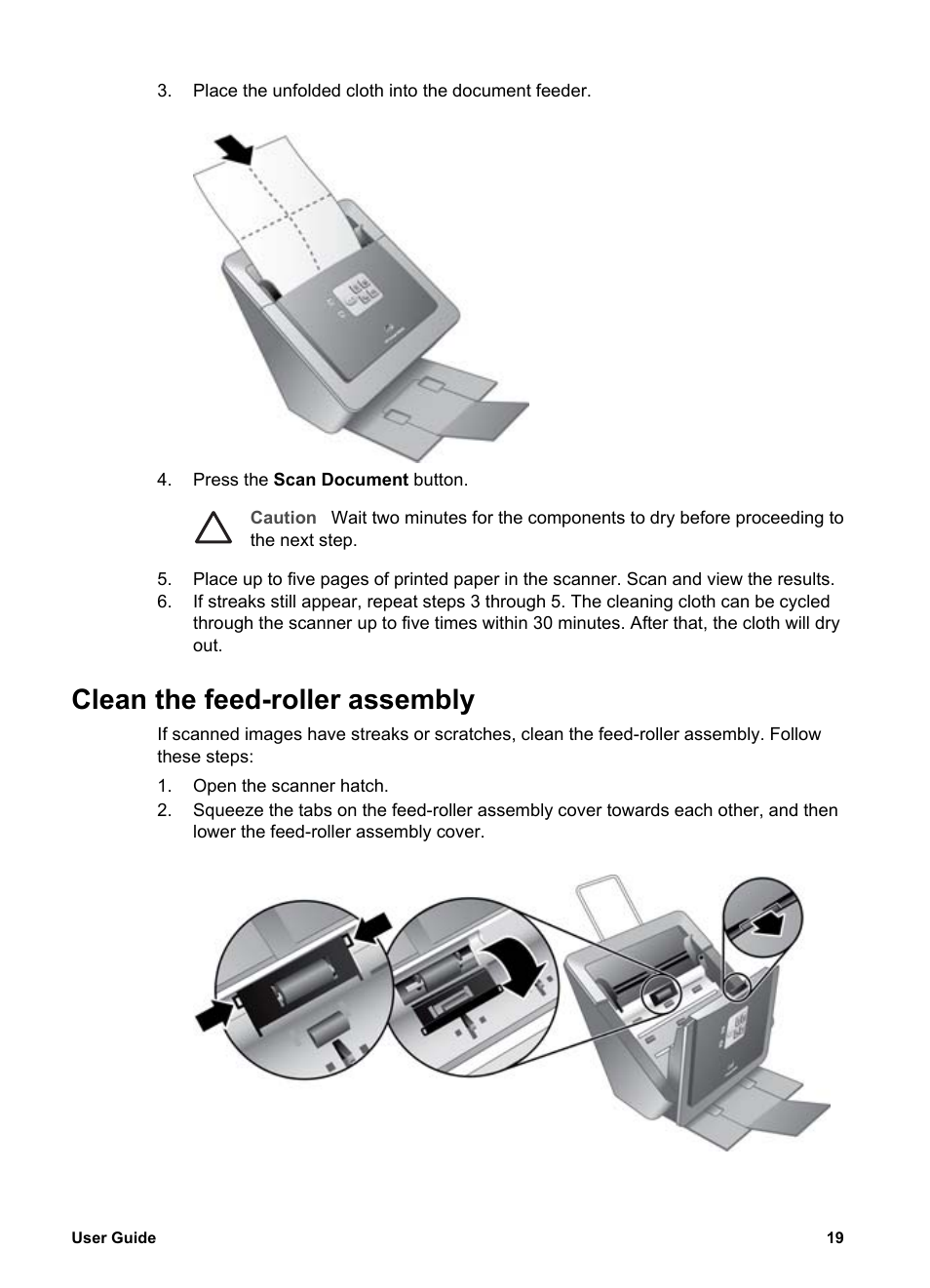 clean the feed roller assembly hp scanjet n6010 document sheet rh manualsdir com HP Scanjet N6010 Sale HP Printer Power Cord