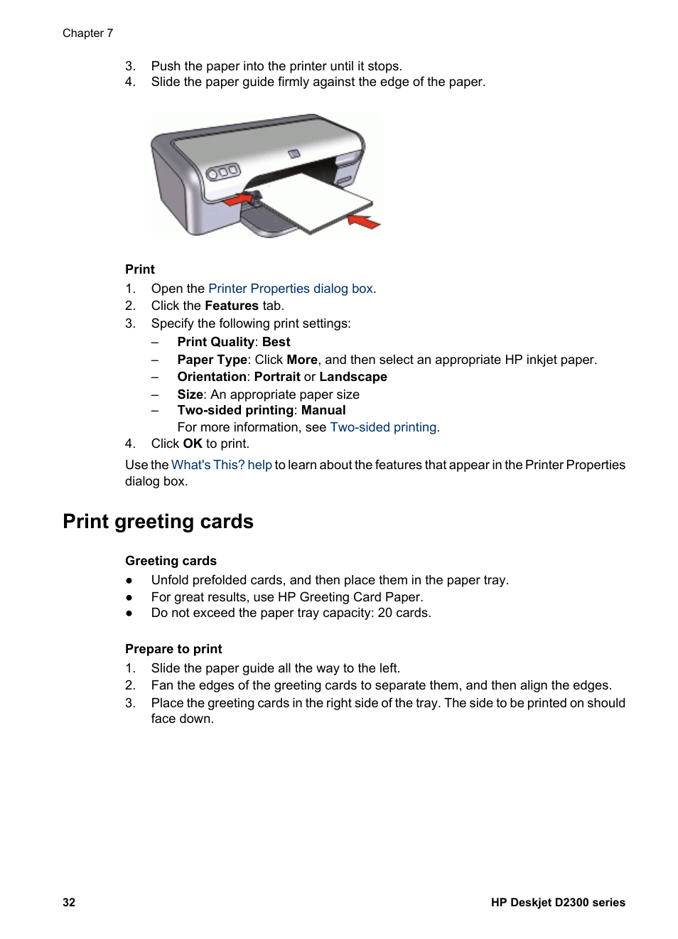 Print greeting cards greeting cards hp deskjet d2345 printer user print greeting cards greeting cards hp deskjet d2345 printer user manual page 34 88 m4hsunfo