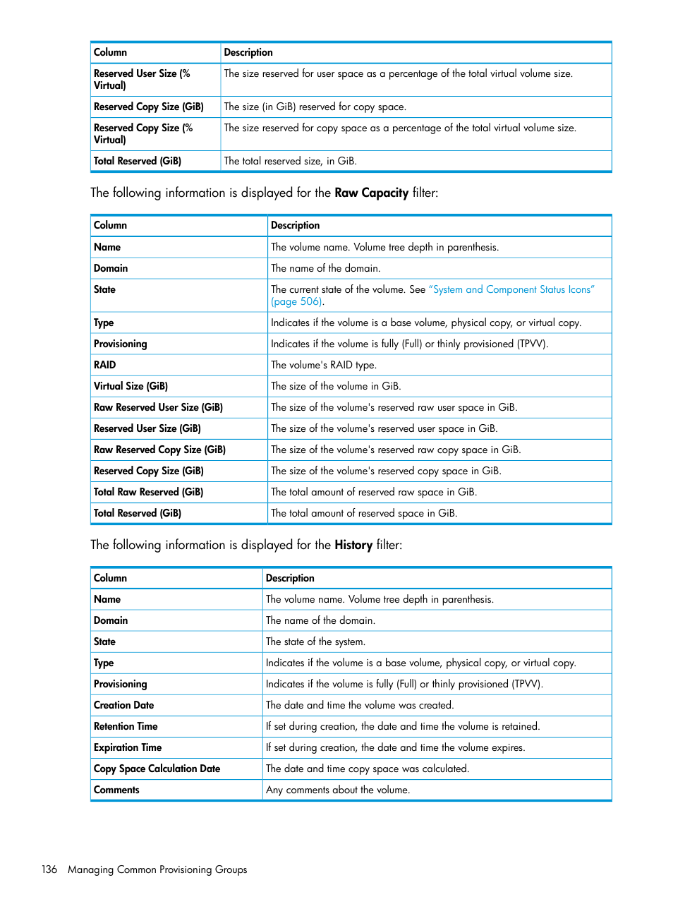 HP 3PAR Operating System Software User Manual | Page 136 / 524