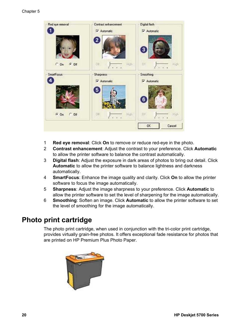 photo print cartridge use the in combination hp deskjet 5740 rh manualsdir com hp t5740 manual hp 5742 manual