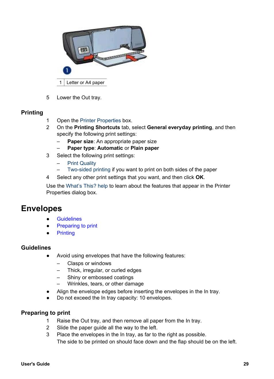 Printing Envelopes Guidelines Hp Deskjet 5740 Color