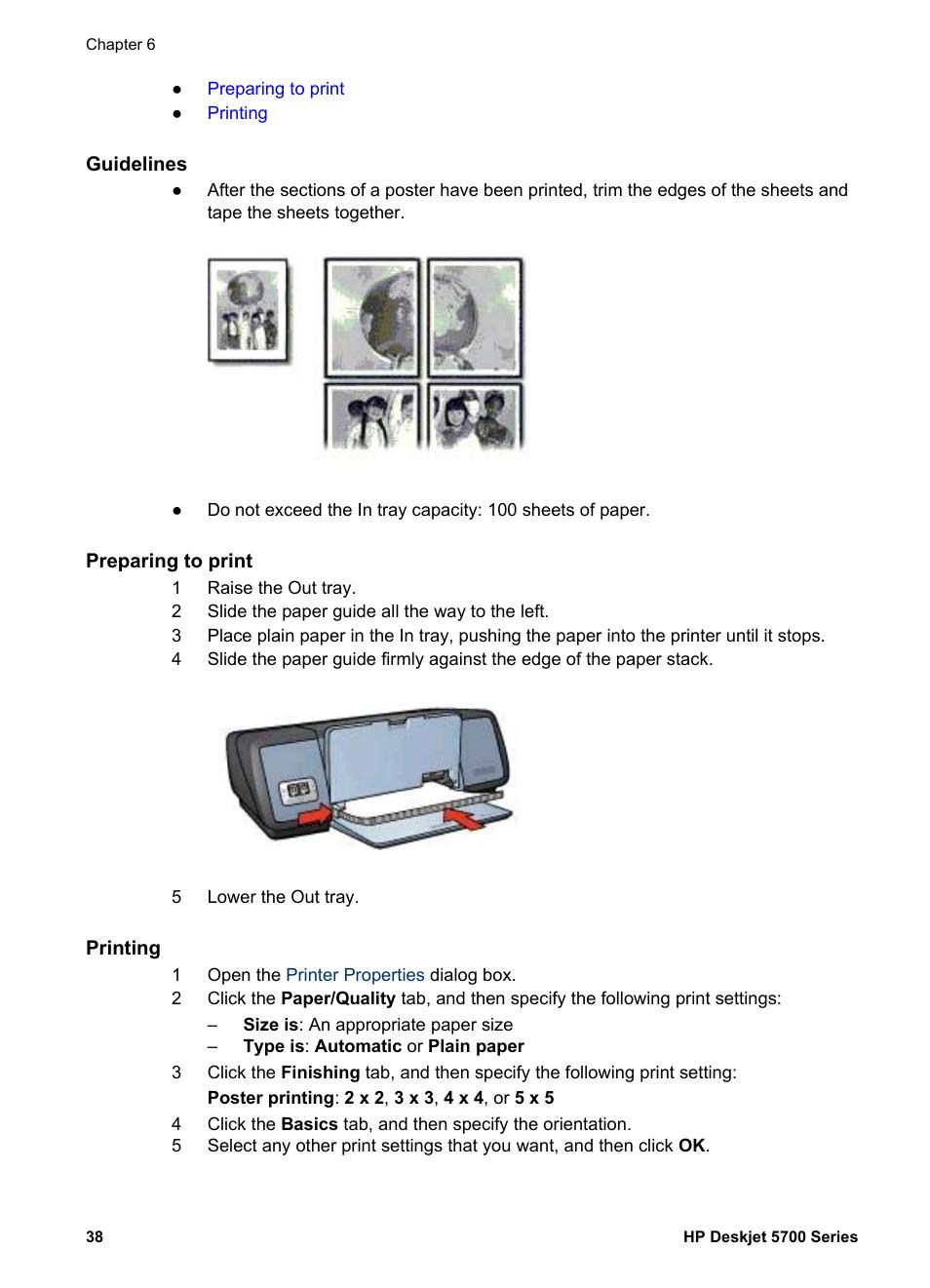guidelines preparing to print printing hp deskjet 5740 color rh manualsdir com hp deskjet 5700 manual HP 5700 Desktop