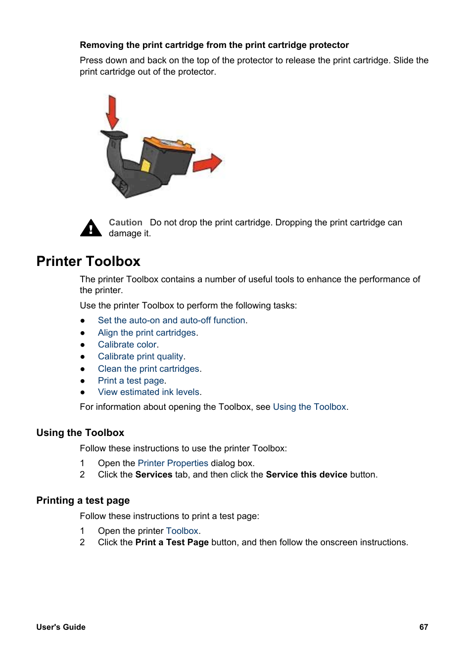 Printer Toolbox Using The