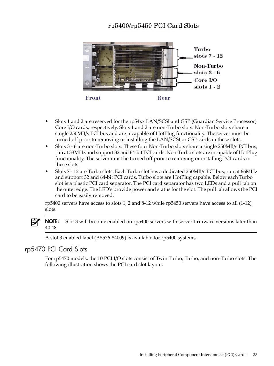 rp5470 pci card slots hp 9000 rp5400 servers user manual page 33 rh manualsdir com hp hdx 9000 service manual hp hdx 9000 manual