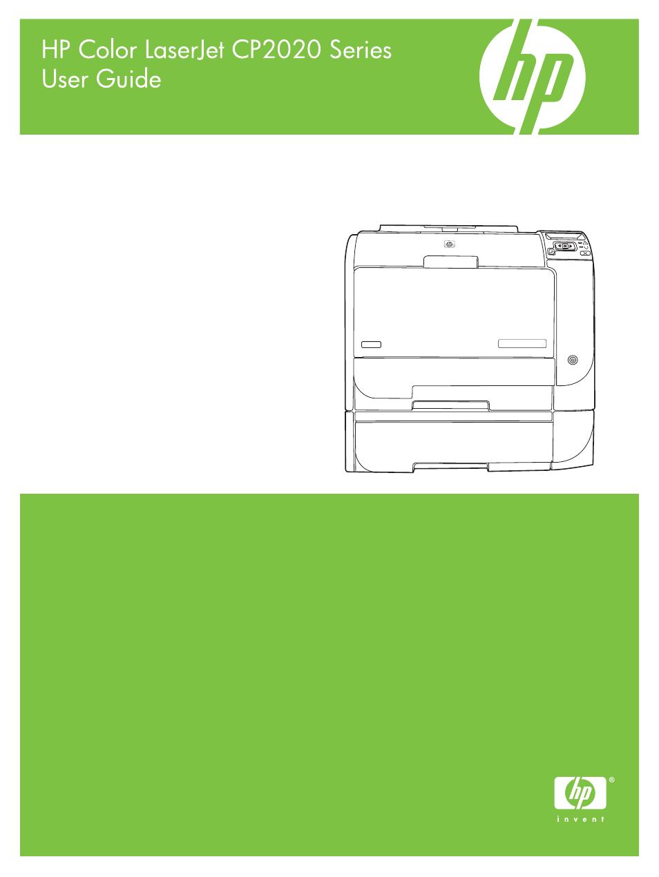 HP Color LaserJet CP2025 Printer series User Manual   166 pages
