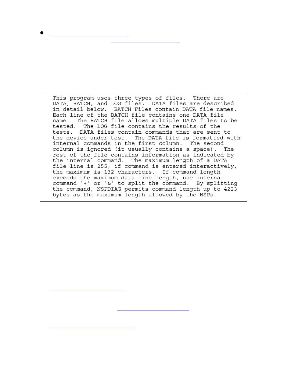 Main menu options, Option a – view log in axx100 nsp | HP Integrity