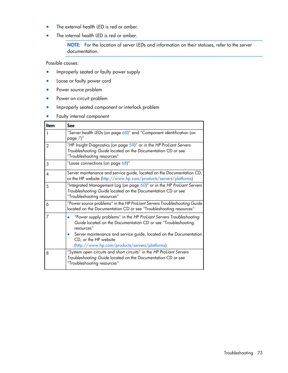 hp proliant dl120 g7 server user manual page 73 105 rh manualsdir com Scion Maintenance Guides Auto Maintenance Guide