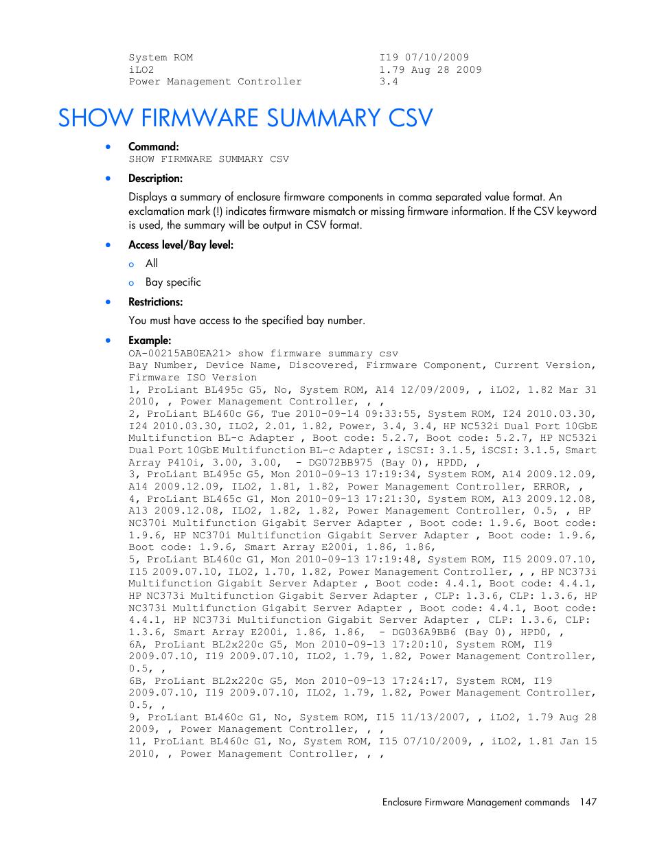 Proliant bl460c g1 firmware update.