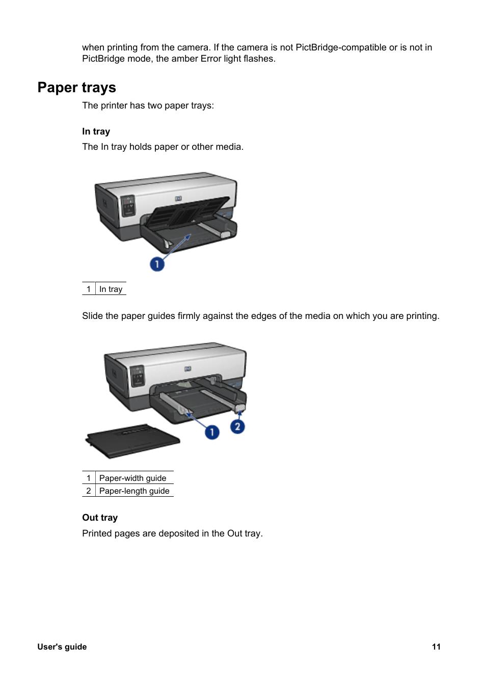 paper trays hp deskjet 6940 user manual page 13 150 rh manualsdir com HP 6940 Printer Troubleshooting HP 6940 Report Button