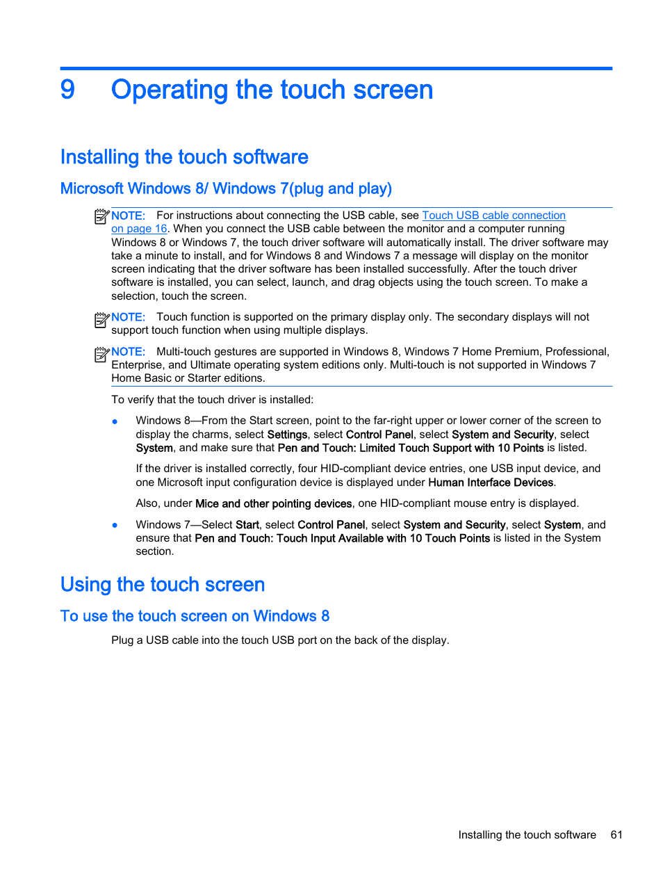 How To Install Touch Screen Driver Windows 7 Touch screen