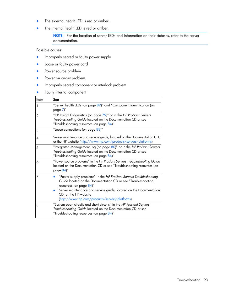 hp proliant dl360 g7 server user manual page 93 130 rh manualsdir com Subaru Scheduled Maintenance Guide Housekeeping Guide