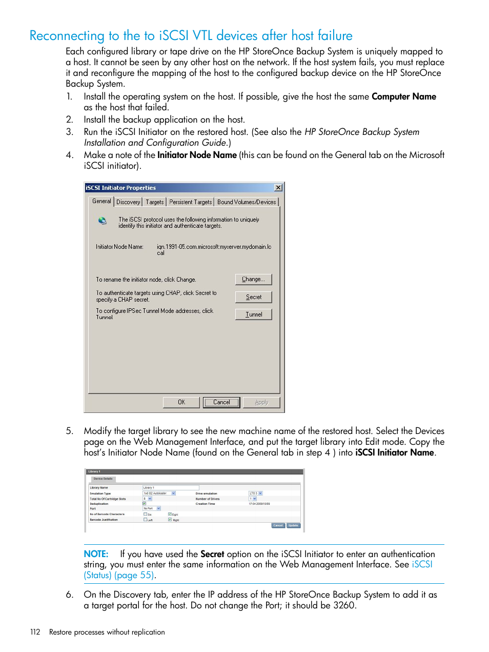 HP StoreOnce Backup User Manual | Page 112 / 178