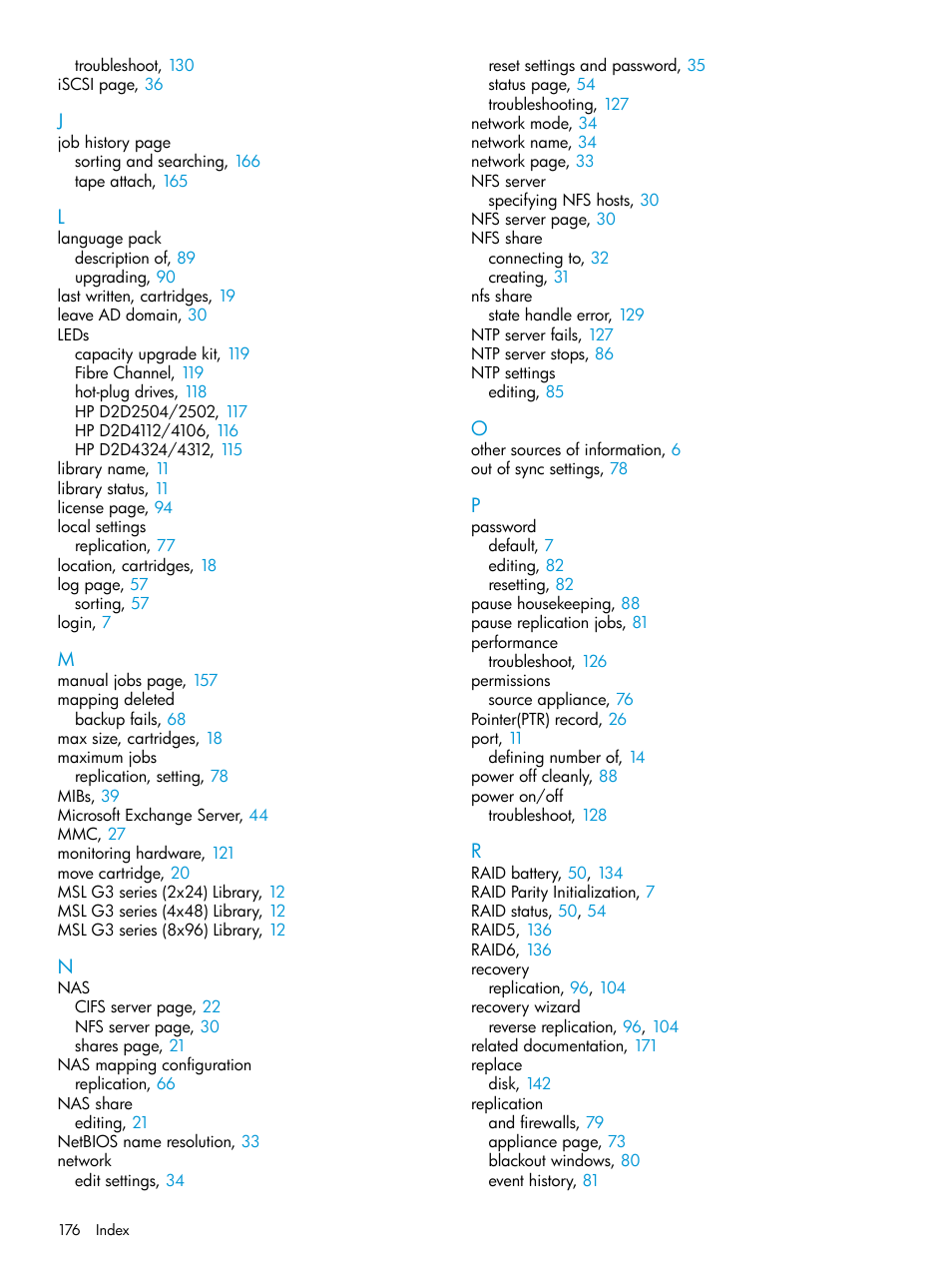 HP StoreOnce Backup User Manual | Page 176 / 178