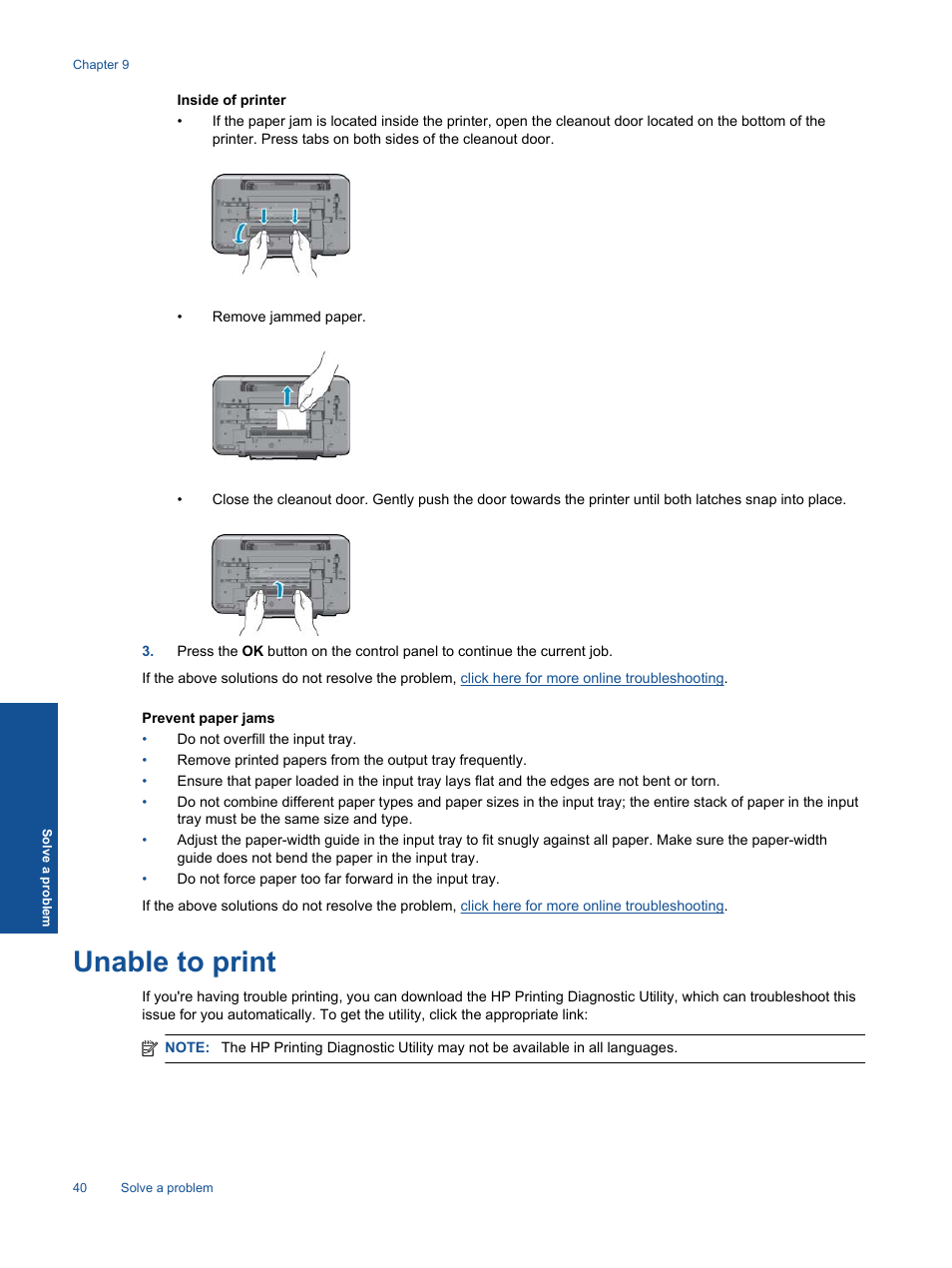unable to print hp deskjet 3511 e all in one printer user manual rh manualsdir com hp 8610 printer user manual hp printer user guide