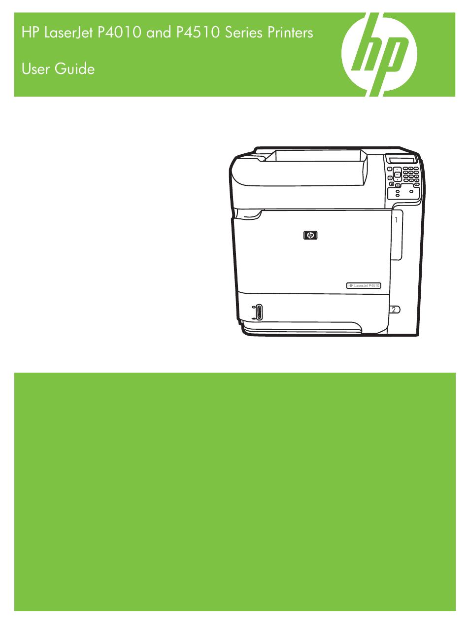 HP LaserJet P4015 Printer series User Manual | 246 pages | Also for:  LaserJet P4510 Printer series, LaserJet P4014 Printer series