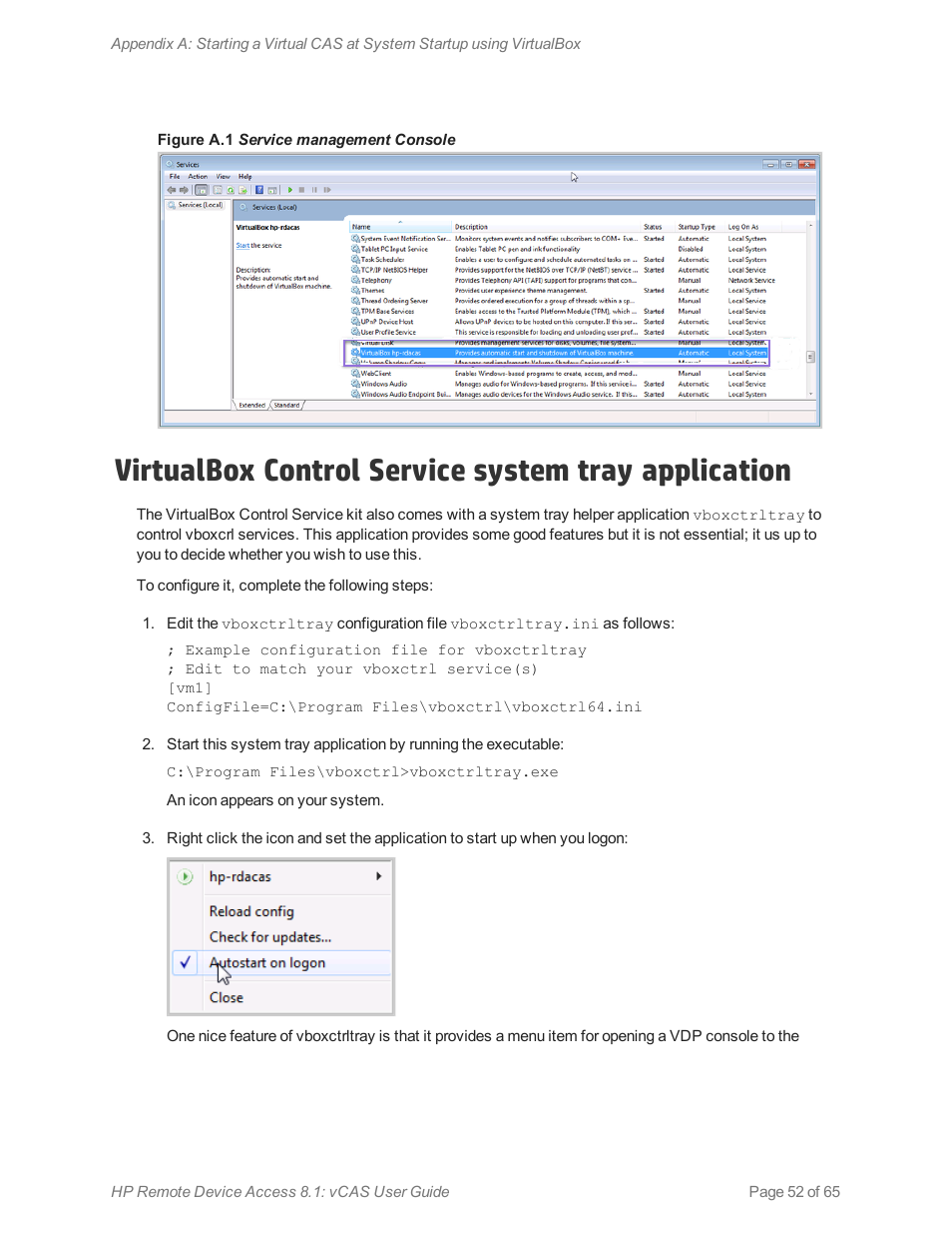 Virtualbox control service system tray application | HP Remote