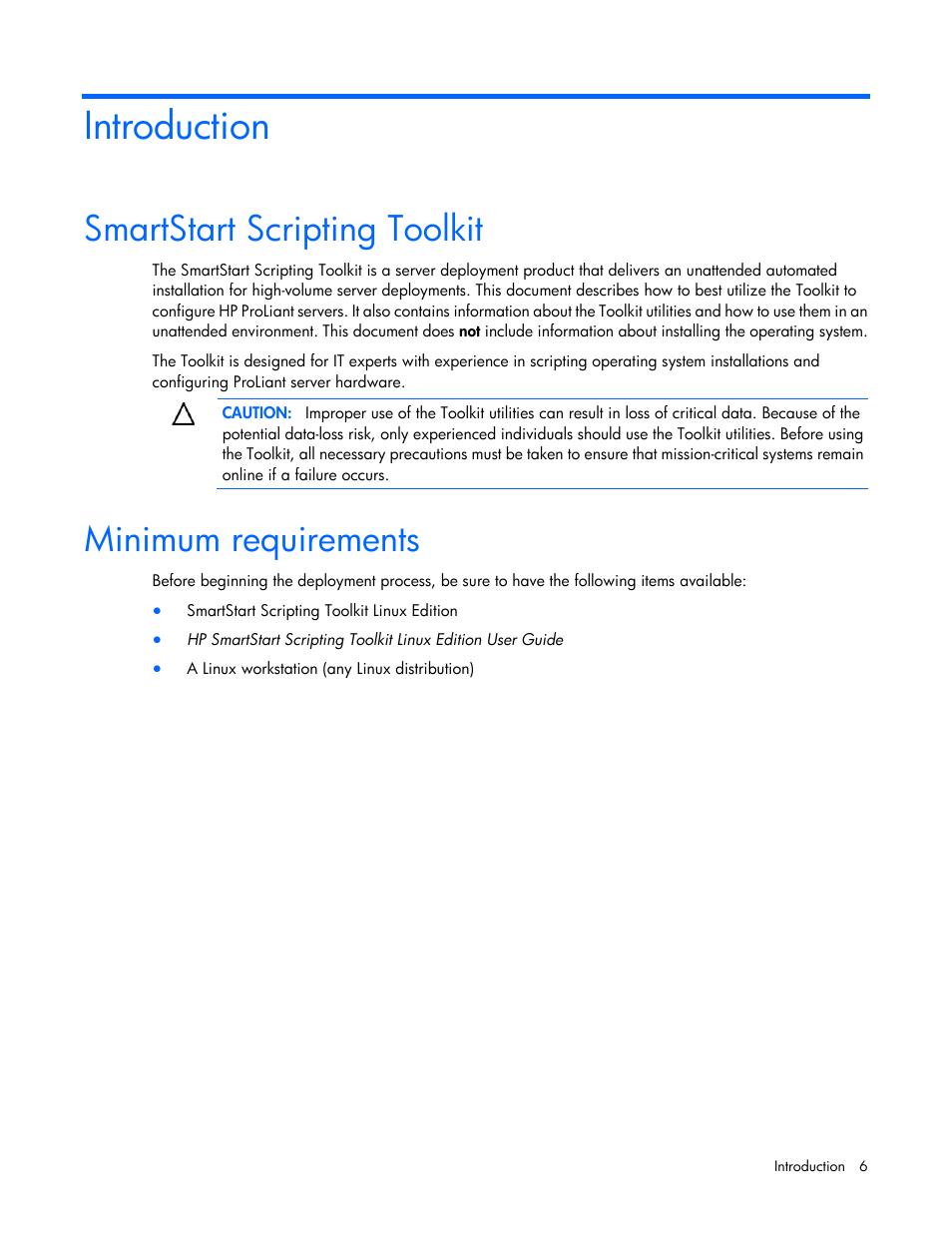 introduction smartstart scripting toolkit minimum requirements rh manualsdir com