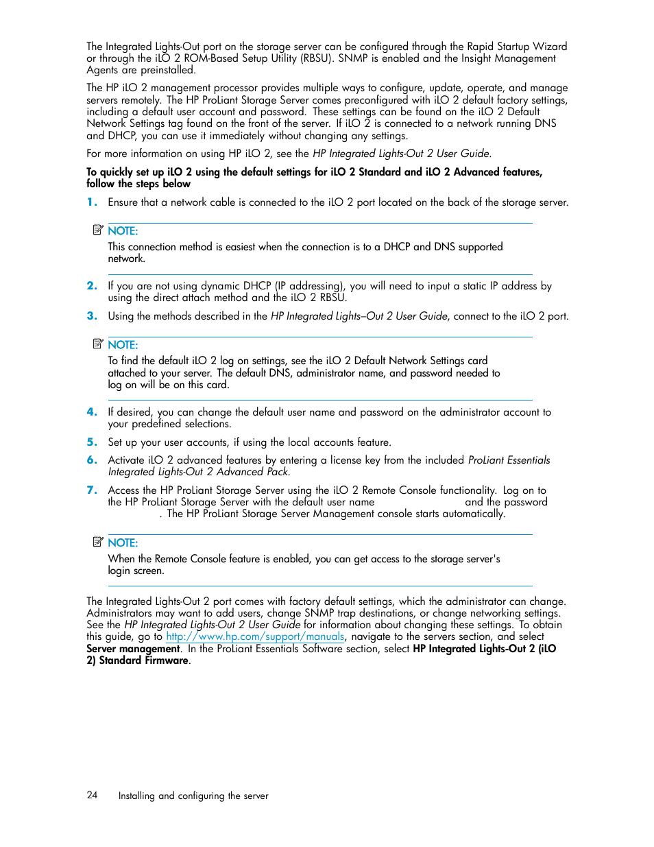 HP ProLiant DL585 G2 Storage-Server User Manual | Page 24 / 150