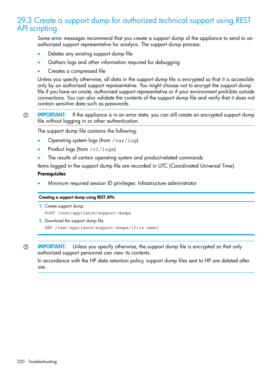 HP OneView User Manual | Page 220 / 317
