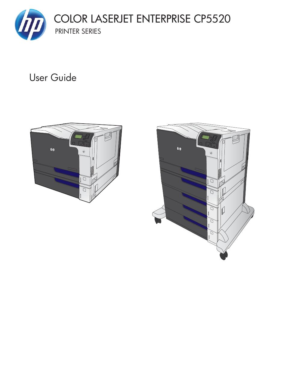 HP Color LaserJet Enterprise CP5525 Printer series User Manual | 262 pages