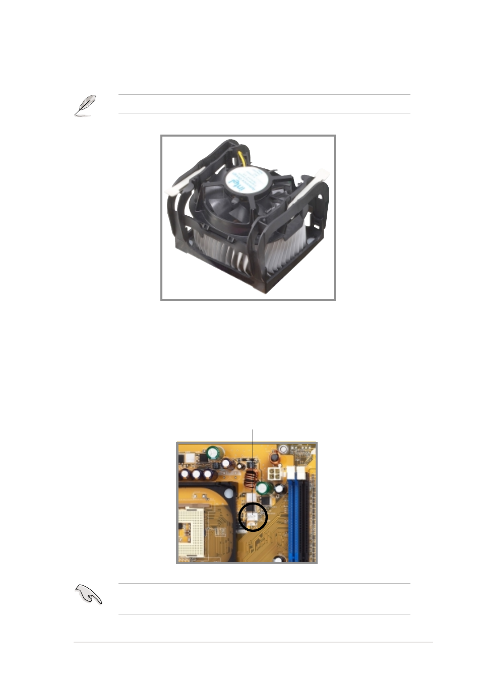 4 connecting the cpu fan cable | HP Compaq X07 Desktop Gaming PC User Manual  | Page 23 / 47