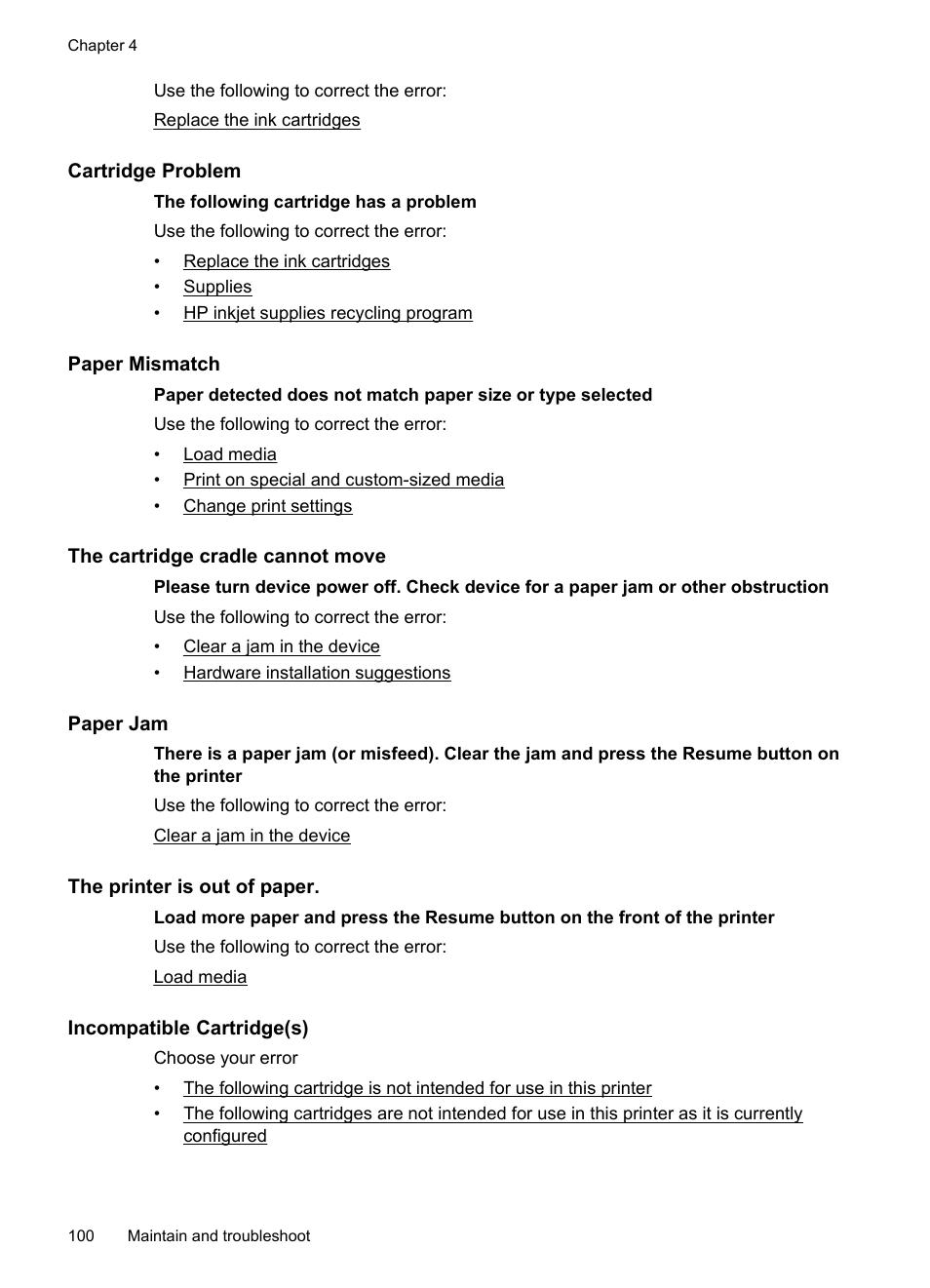 Paper Mismatch Error Galvinsdinnerhousestjoe Block Diagram Xeroxwc3045 Cartridge Problem The Cradle Cannot Move Hp Officejet 7000 Wide