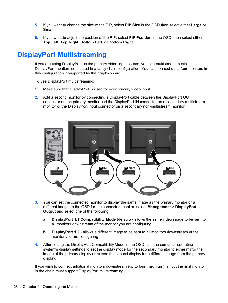 Displayport multistreaming   HP DreamColor Z24x Professional