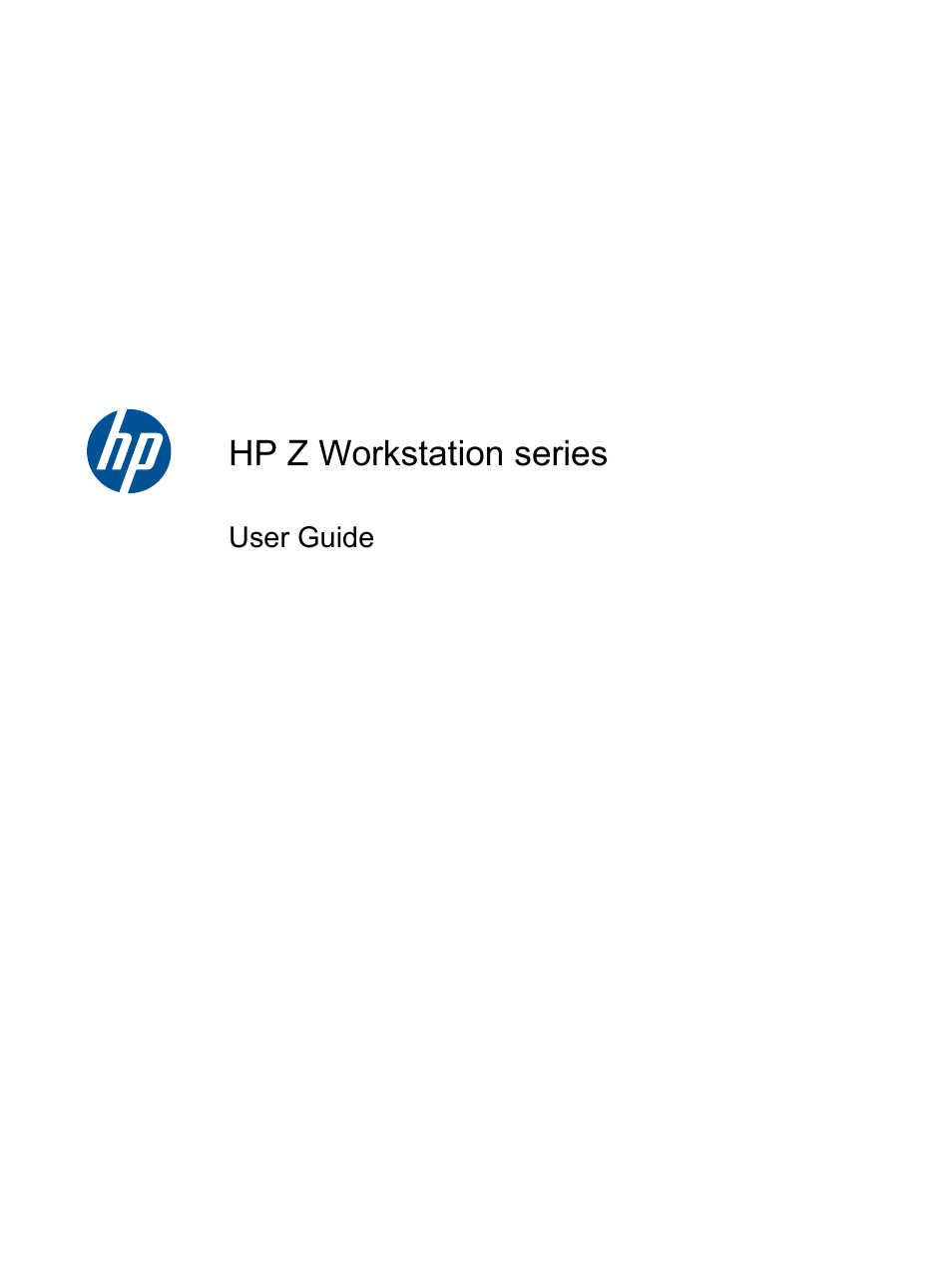 HP Z400 Workstation User Manual | 76 pages | Also for: Z800