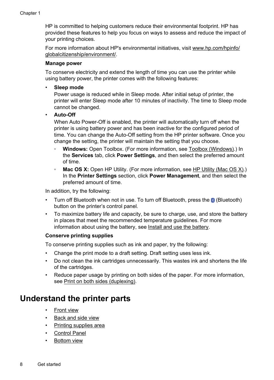 hp 100 mobile printer инструкция