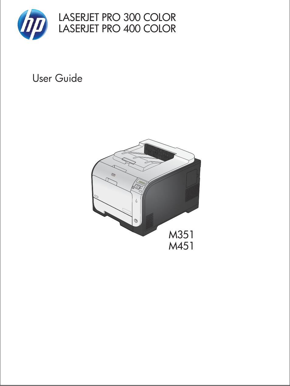 Hp Laserjet Pro 400 Color Printer M451 Series User Manual 242 Pages