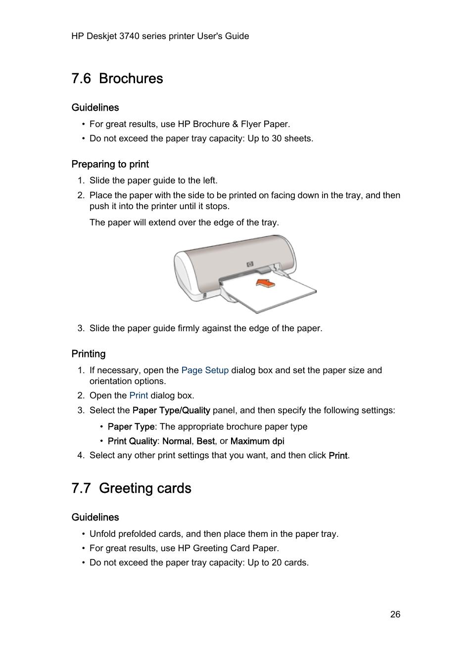 6 Brochures Guidelines Preparing To Print Hp Deskjet 3745 Color