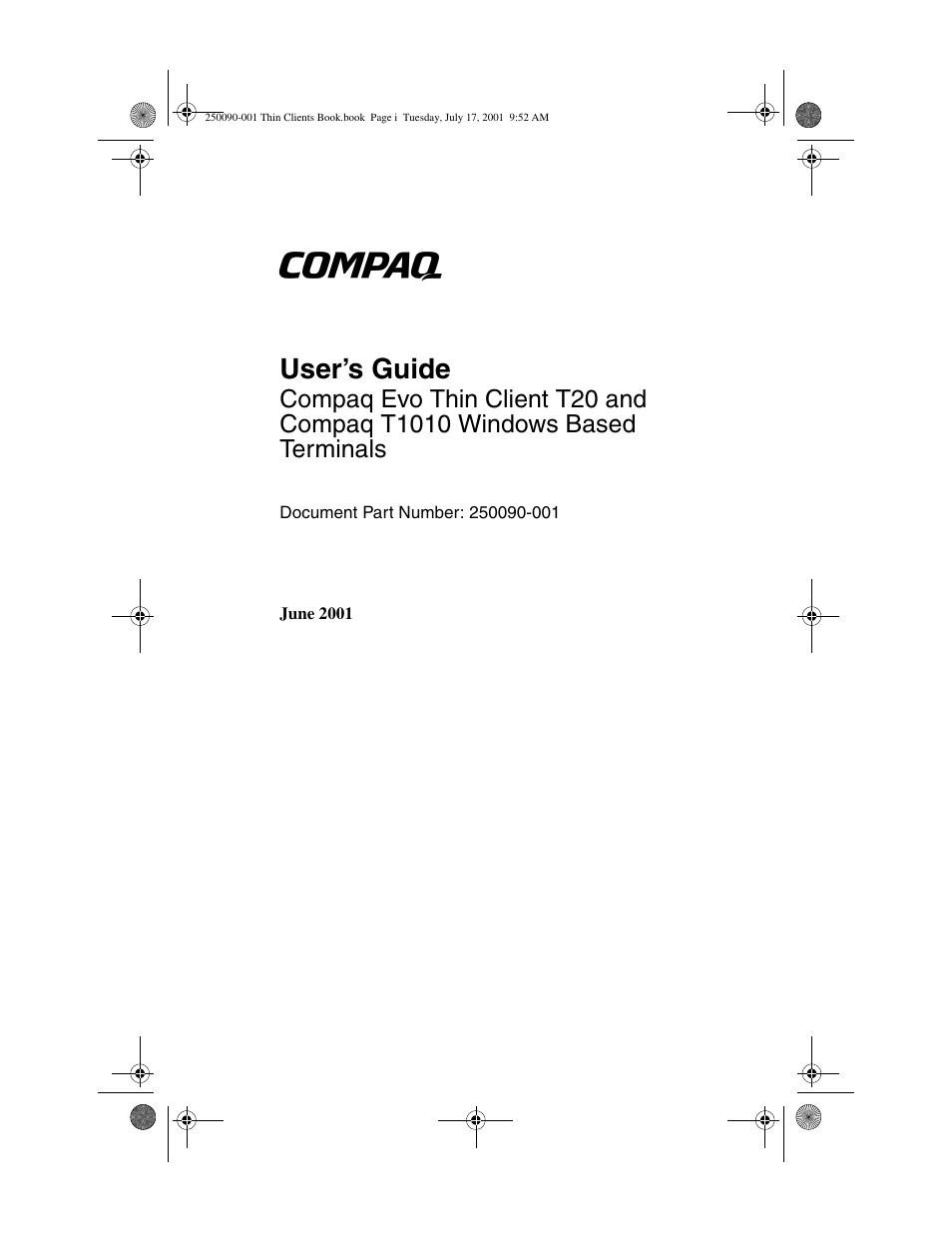 hp compaq t1000 terminal thin client pc series user manual 58 rh manualsdir  com compaq evo d500 manual compaq evo n600c service manual