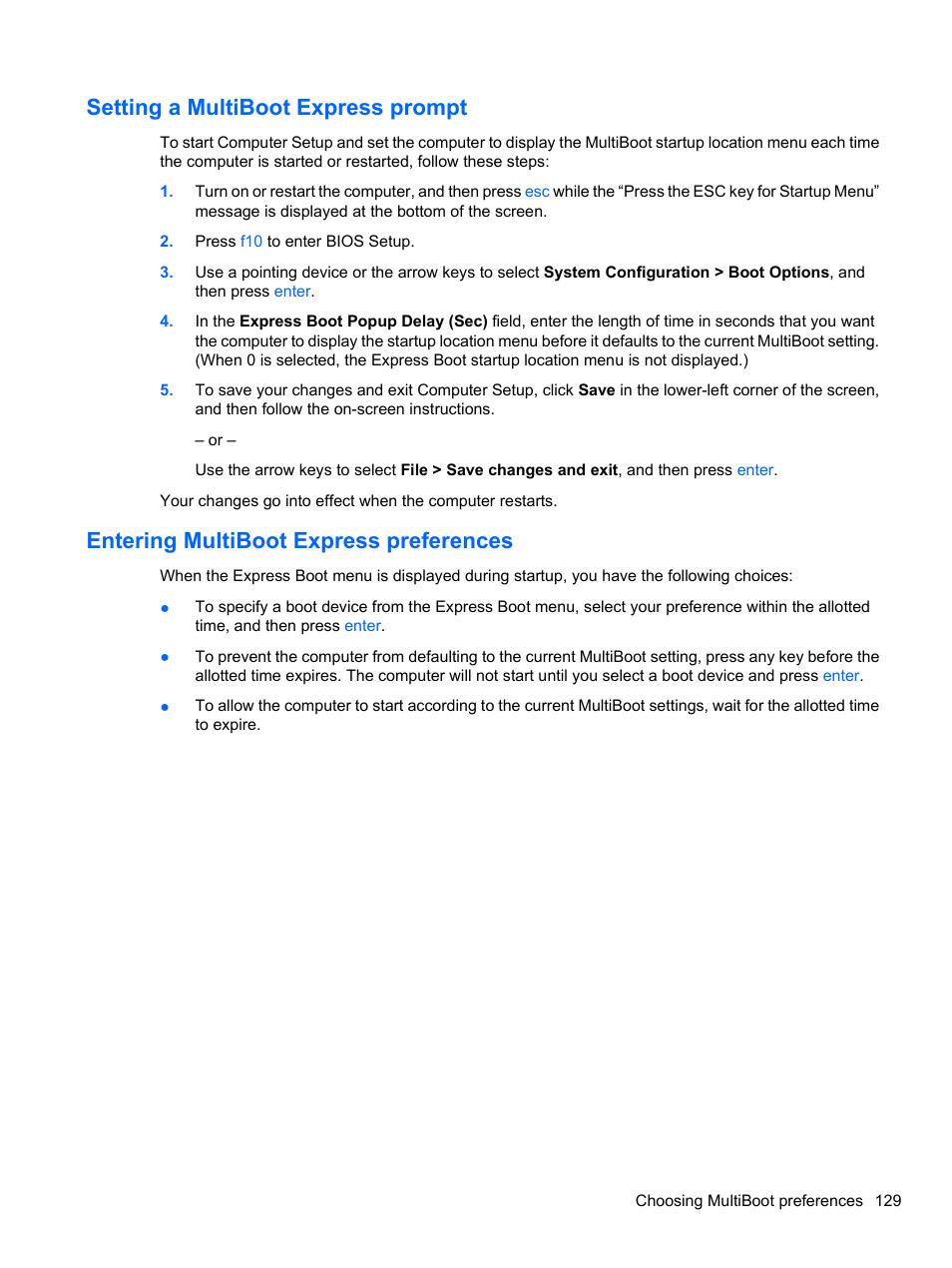 how to boot into bios hp elitebook