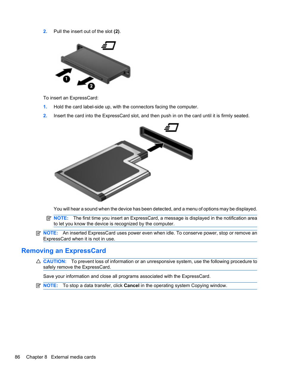removing an expresscard hp elitebook 8740w mobile workstation user rh manualsdir com hp elitebook 8740w user manual hp elitebook 8740w owners manual