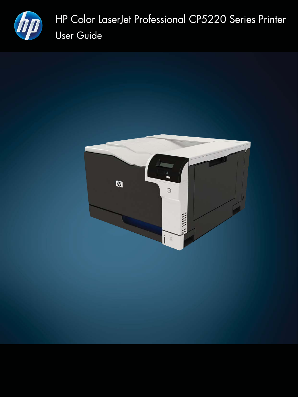 HP Color LaserJet Professional CP5225 Printer series User Manual | 168 pages