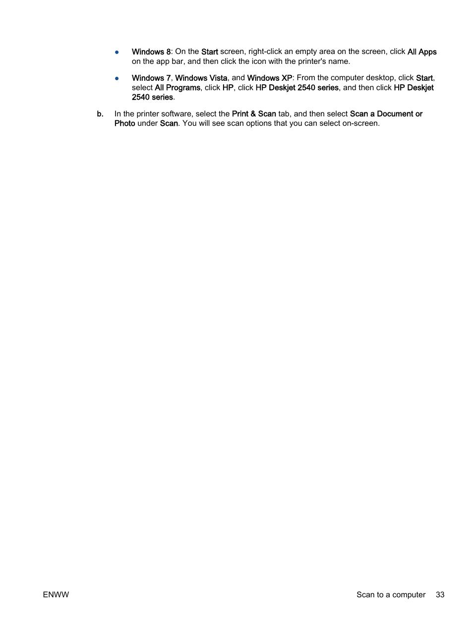 HP Deskjet 2540 All-in-One Printer User Manual | Page 37 / 102