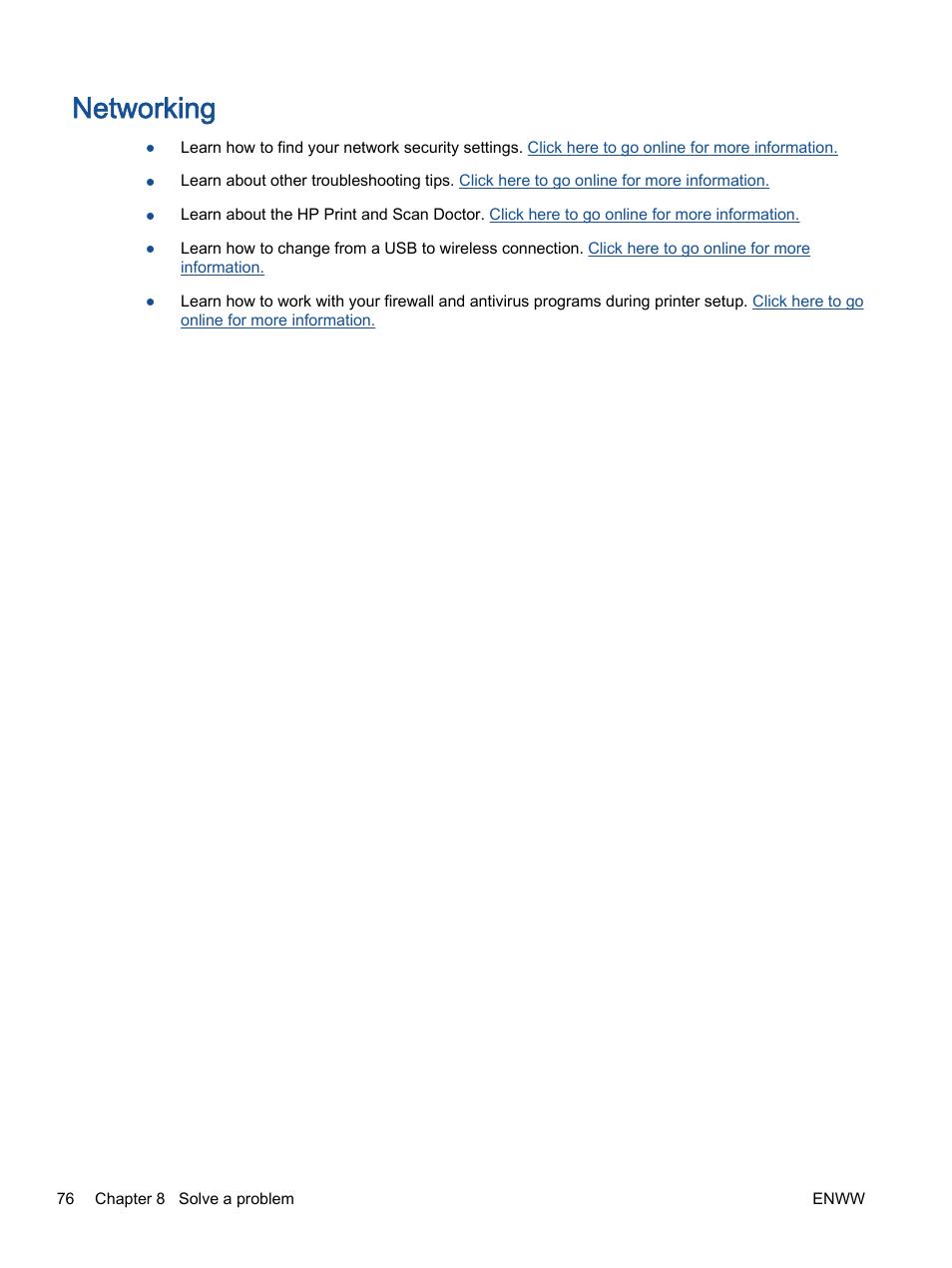 Networking | HP Deskjet 2540 All-in-One Printer User Manual