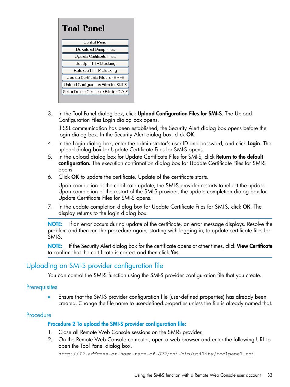 Uploading An Smi S Provider Configuration File Prerequisites