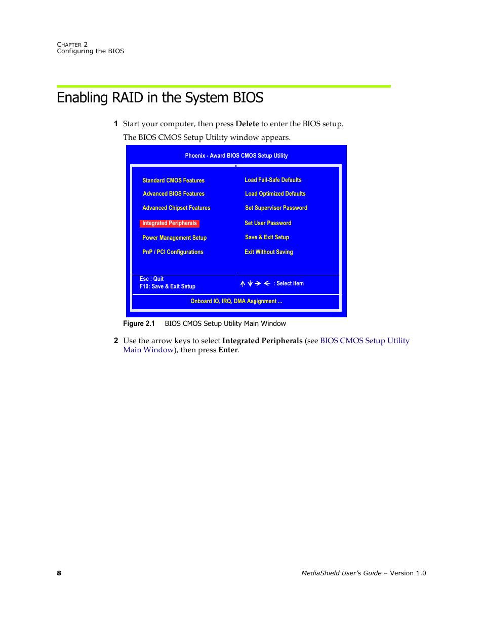 Enabling raid in the system bios | HP ProLiant ML115 Server User
