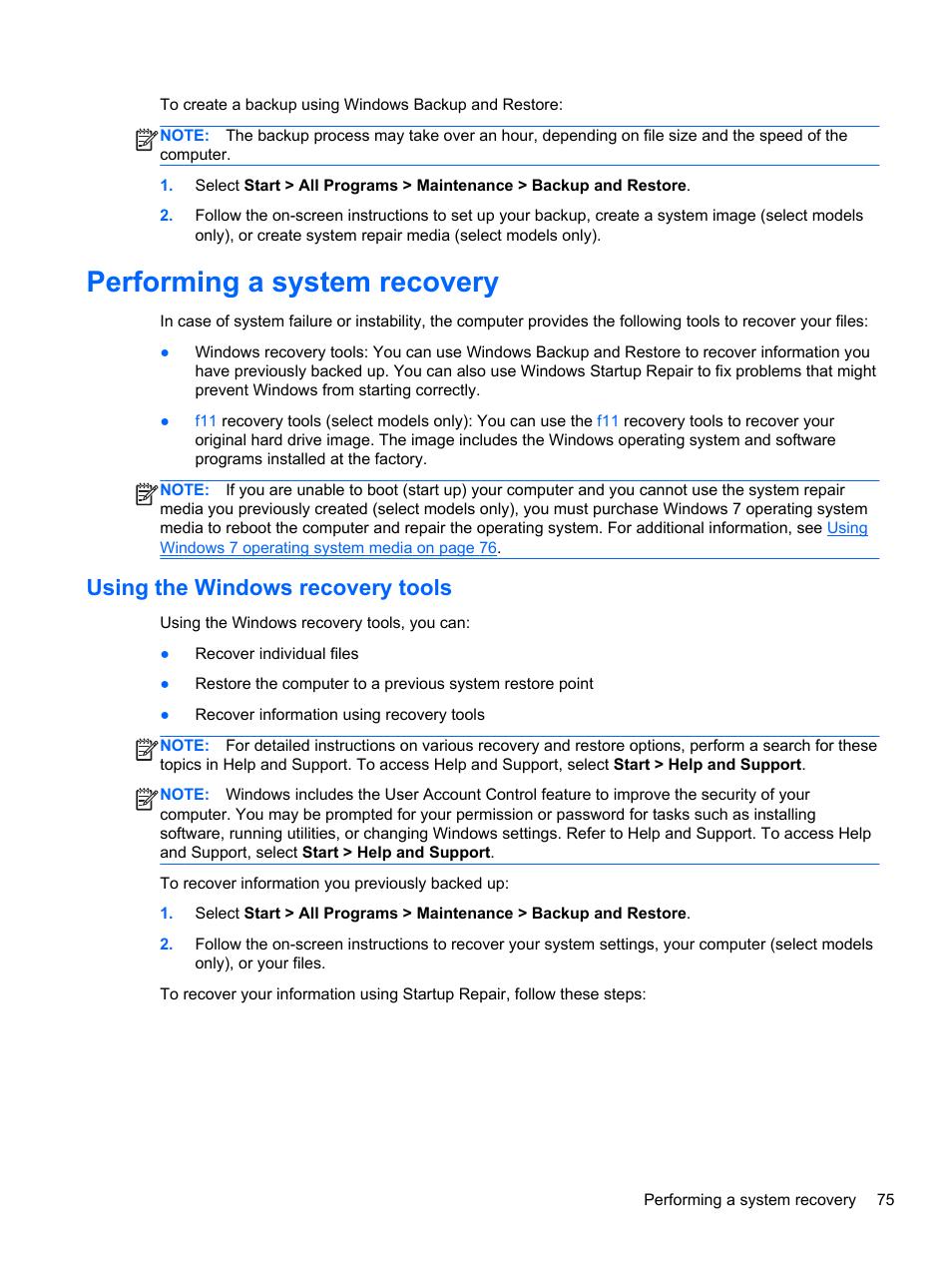 Hp computer startup repair windows 7 | Windows 7 Startup Repair