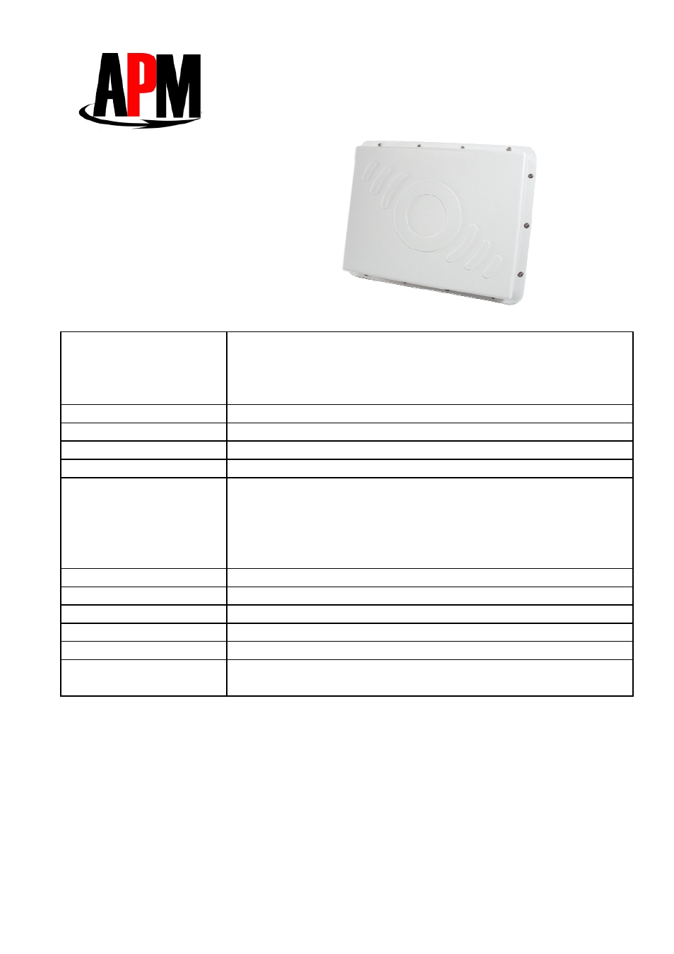 APM APE-502401a-1 User Manual | 2 pages