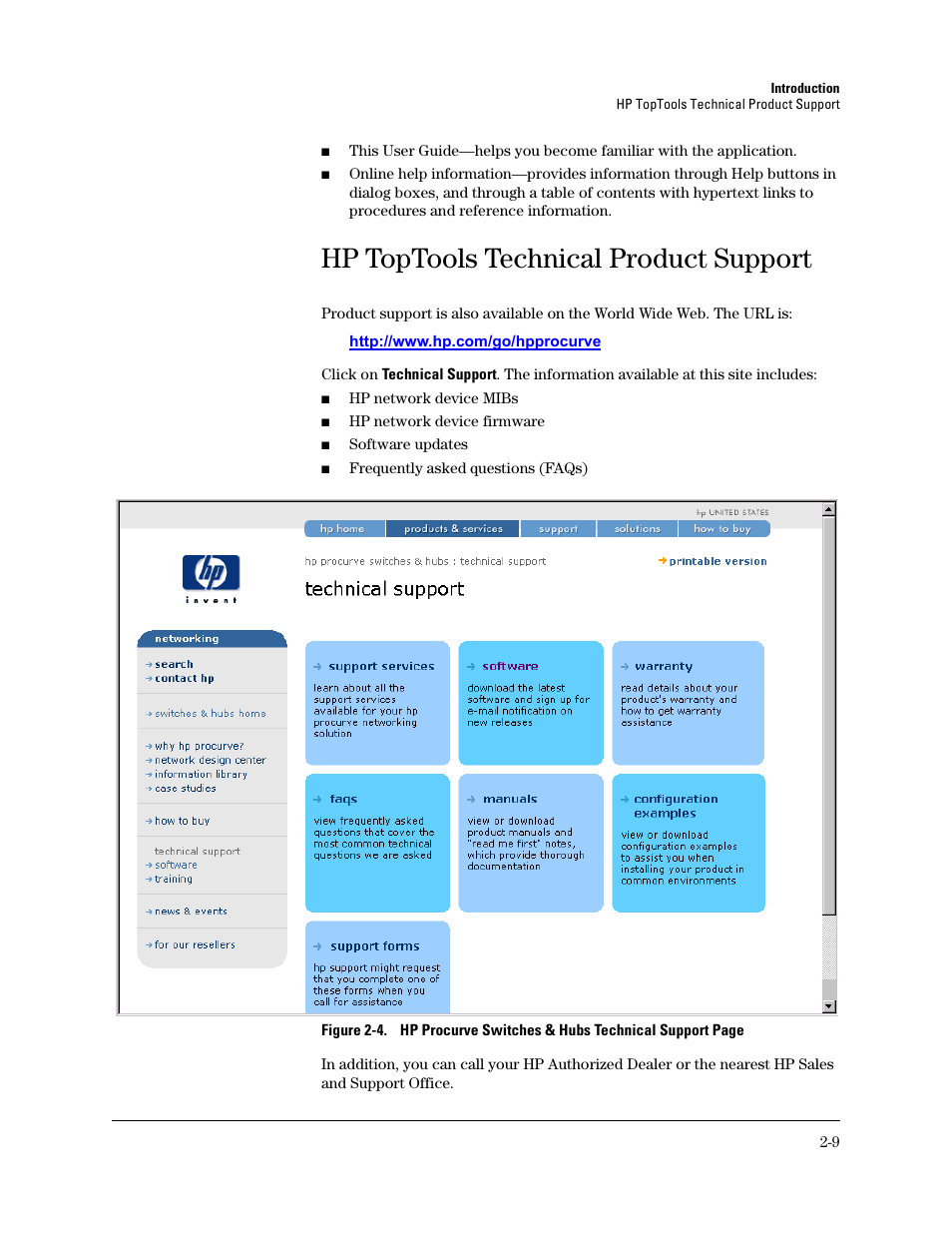 Hp toptools technical product support | HP TopTools for Hubs and