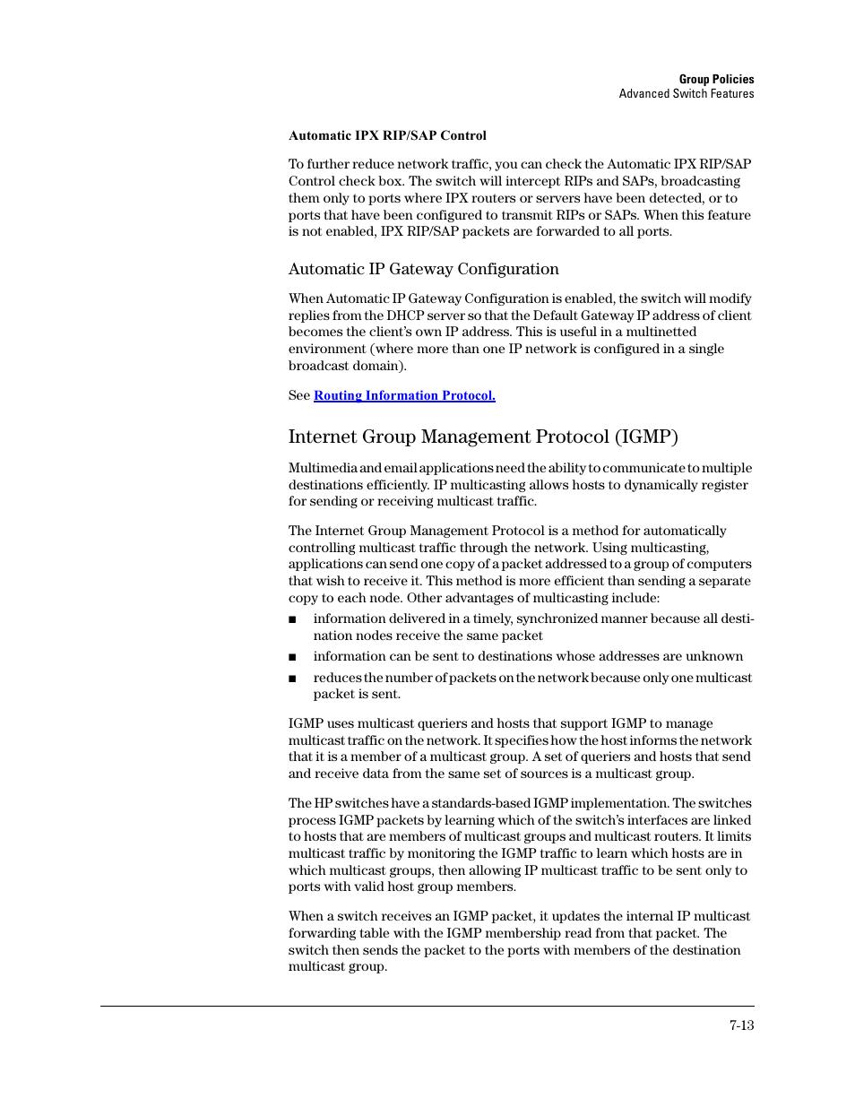 Internet group management protocol (igmp), Internet group