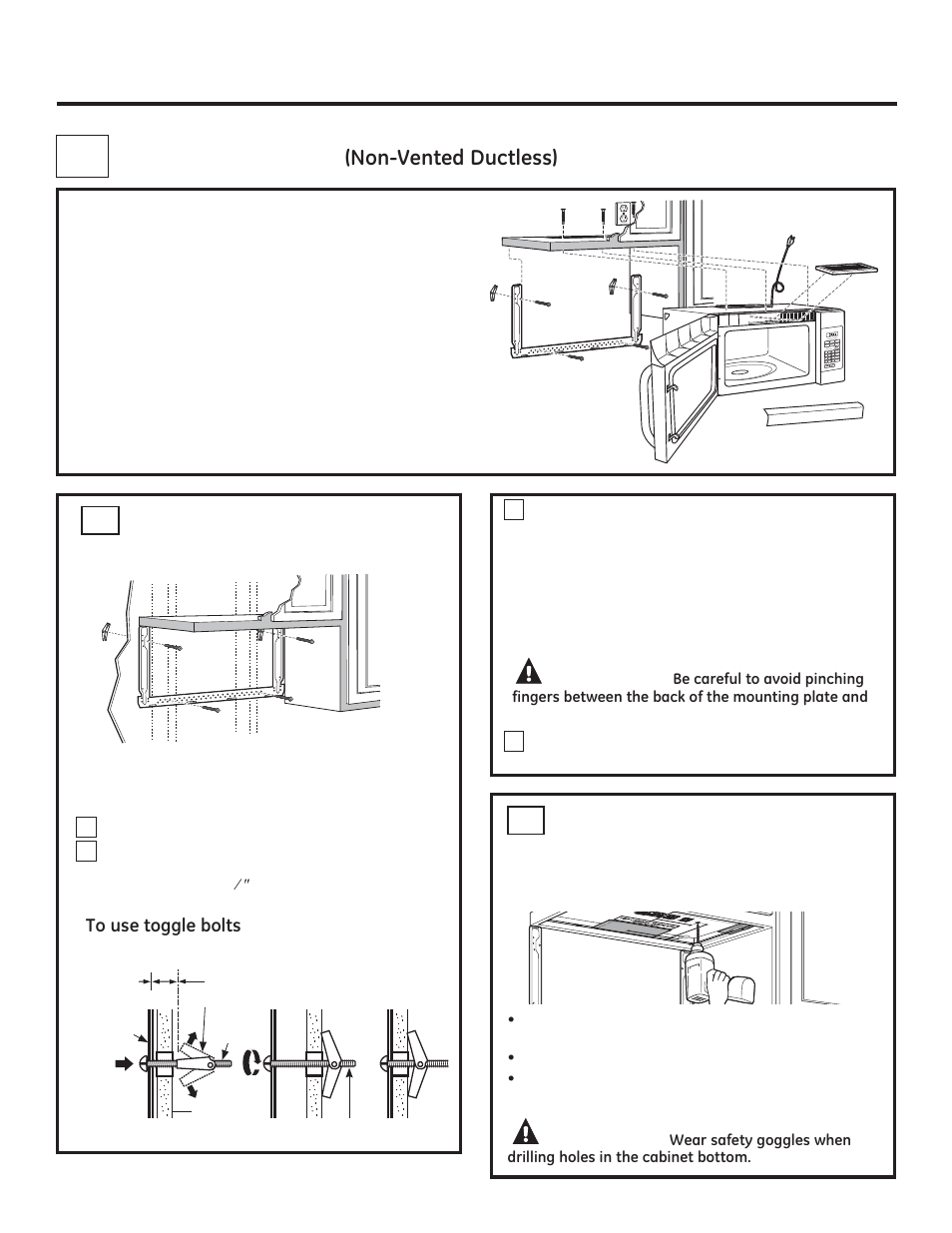 Installation instructions, Recirculating, Caution | GE JVM3160DFWW ...