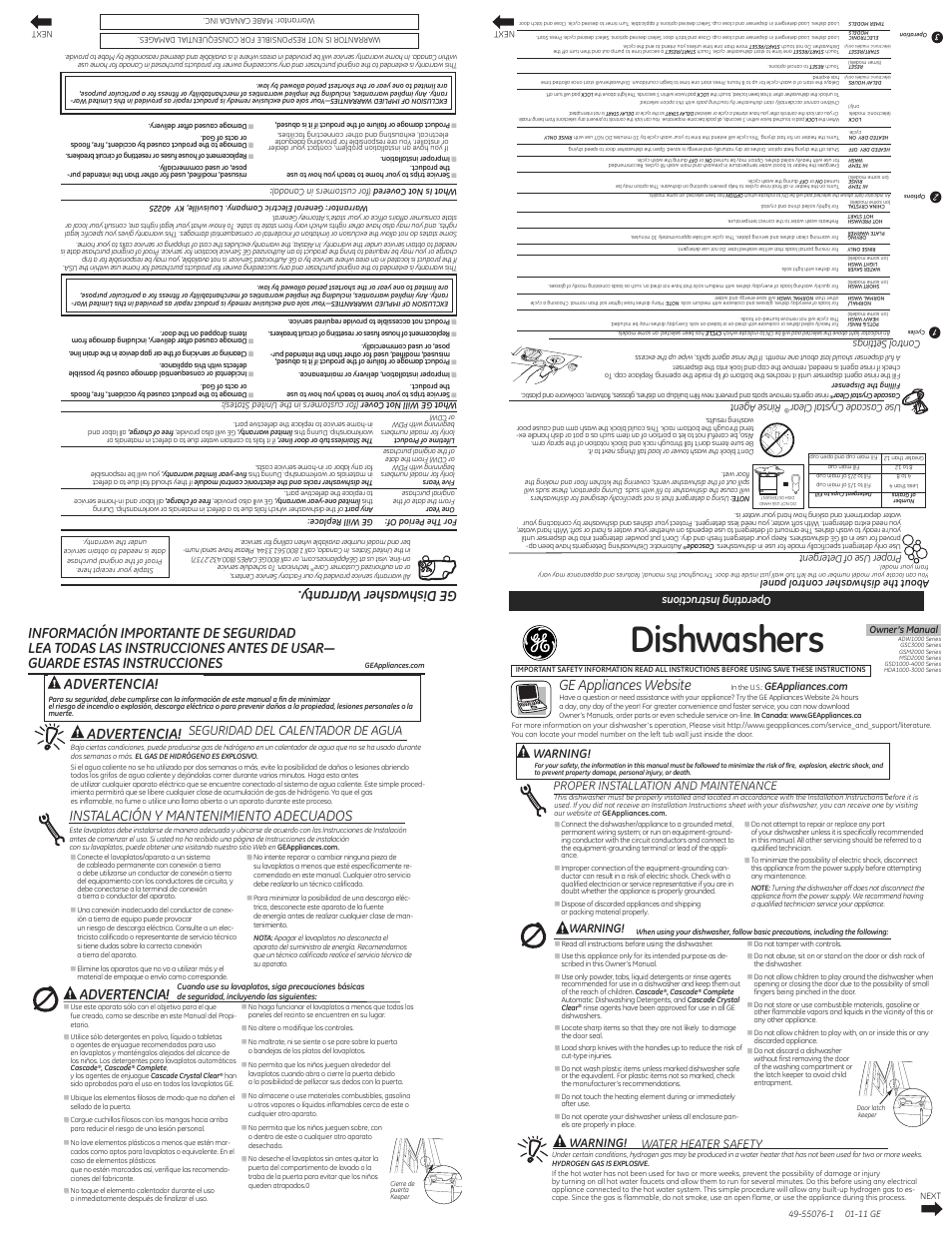 Ge Gsd3360dss User Manual 2 Pages Original Mode Also