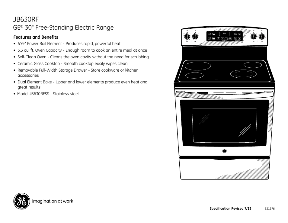 jb630rf 30 free standing electric range ge jb630rfss user manual rh manualsdir com Owner's Manual User Manual Template