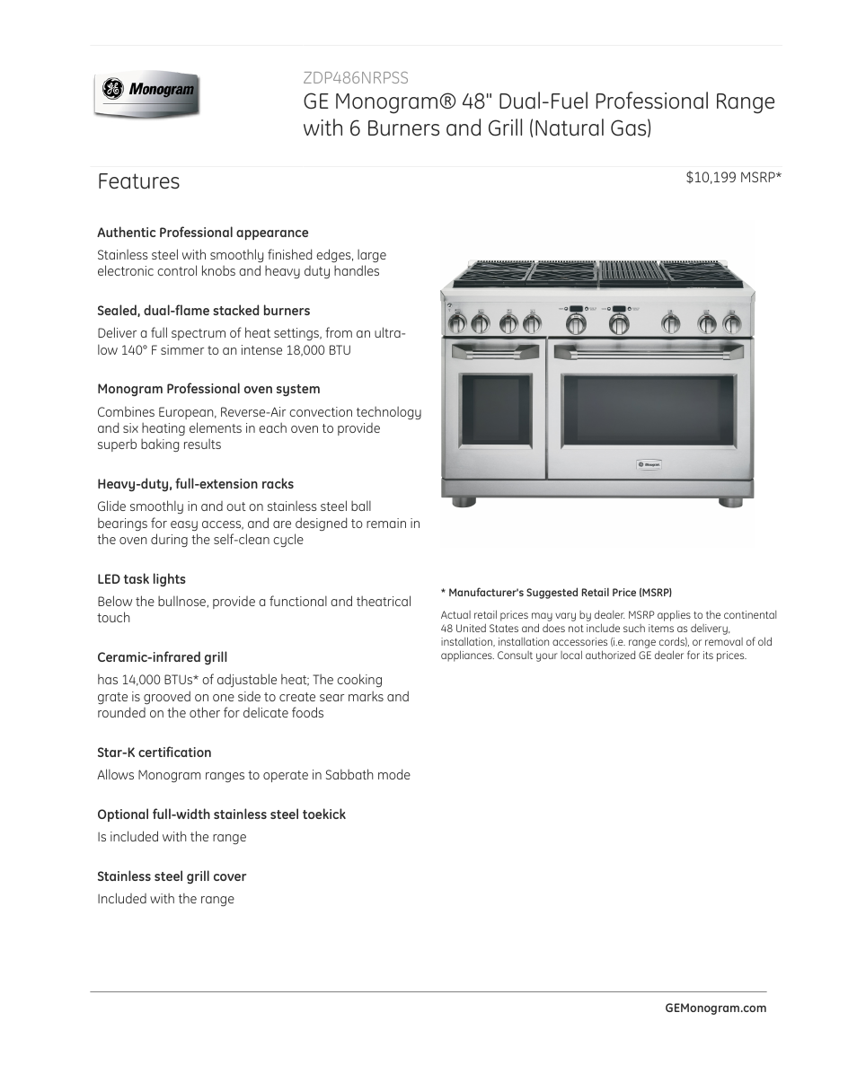 ge zdp486nrpss user manual 4 pages rh manualsdir com GE Grill and Griddle GE Grill and Griddle